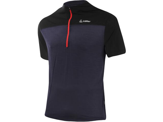 Löffler Merino Half-Zip Bike Shirt Men graphite